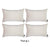 "Beige Velvet Decorative Lumbar Throw Pillow Cover 14""x20""(4 pcs in set)"