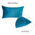 "Petrol Blue Velvet Decorative Lumbar Throw Pillow Cover 14""x20""(4 pcs in set)"