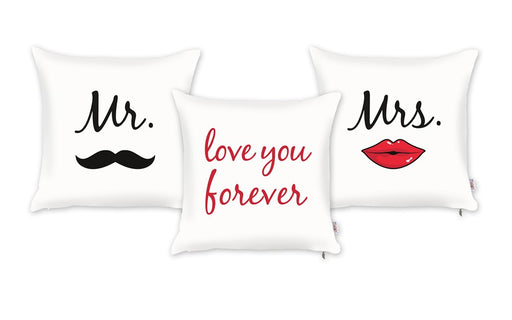 Valentine's Day Love You Forever Decorative Throw Pillow Cover (3 pcs in set)