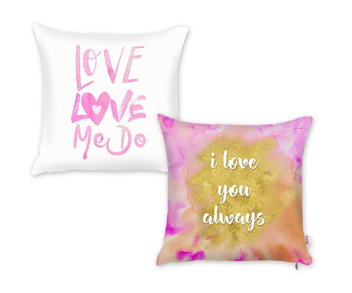 Valentine's Day Love Me Do Decorative Throw Pillow Cover (2 pcs in set)