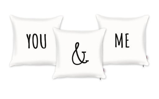 Valentine's Day You & Me Decorative Throw Pillow Cover (3 pcs in set)