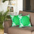 Geometric Green and White Decorative Throw Pillow Cover (2 pcs in set)