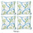 "Marine Blue Coral Decorative Throw Pillow Cover 18""x18"" (4 pcs in set)"