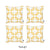 Geometric Yellow Squares Throw Pillow Cover Set 18''x18'' (4 pcs in set)