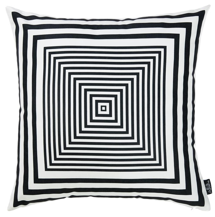 Skandi BW Focus Decorative Throw Pillow Cover Printed Home Decor 18''x18''