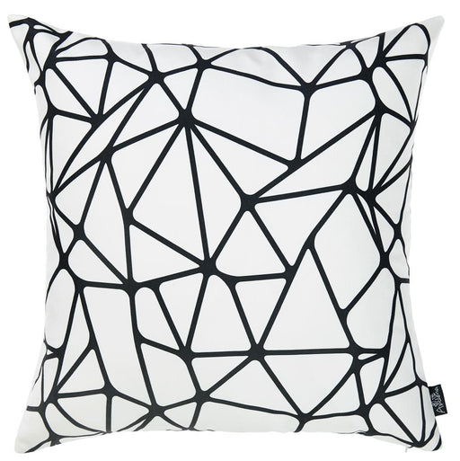 Skandi BW Tangle Decorative Throw Pillow Cover Printed Home Decor 18''x18''