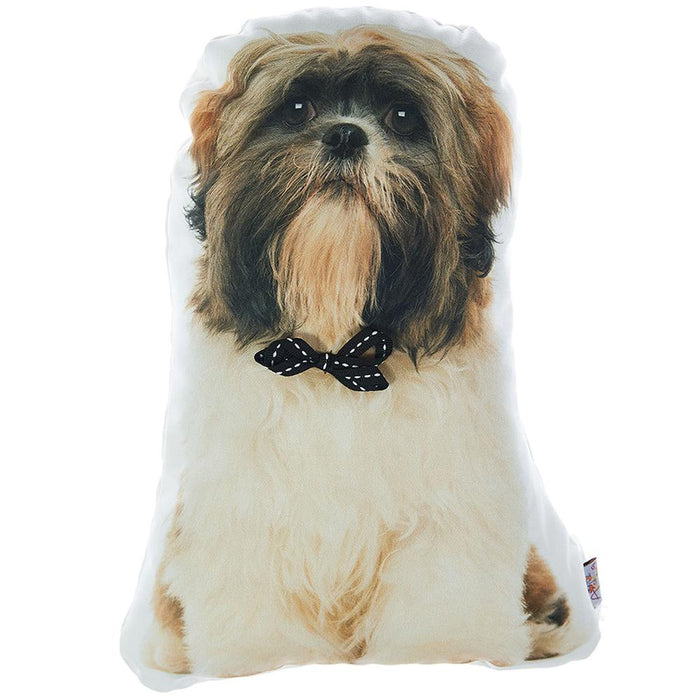 Animal Shaped Pillow, Filled Pillow with Shih Tzu Dog Shape