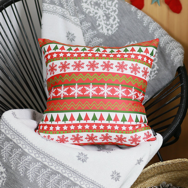 "Snowflake Merry Christmas Throw Pillow Cover Christmas Gift 18""x18"""