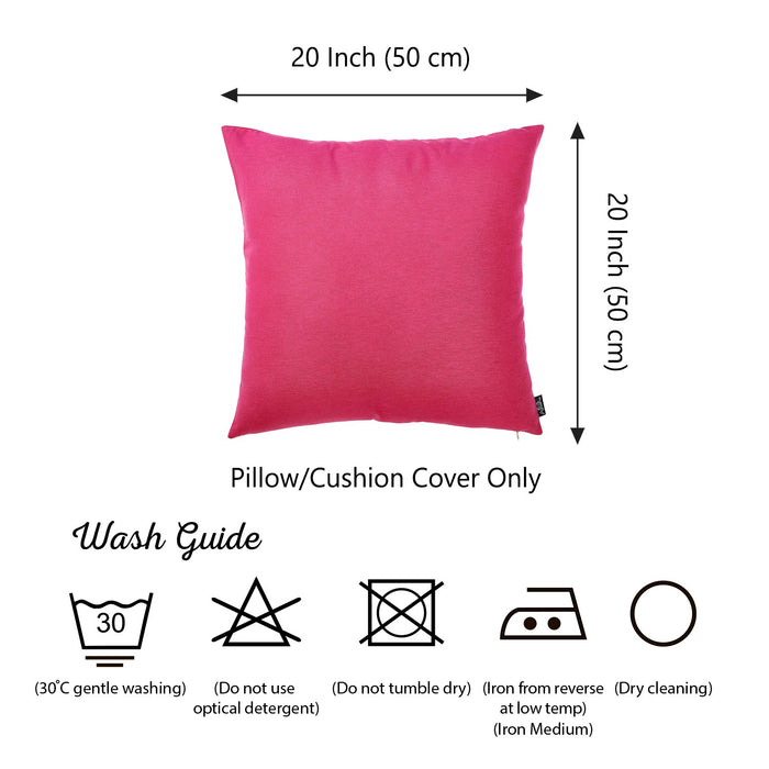 "Easy Care Solid Fushia Decorative Throw Pillow Cover Home Decor 20""x20"" SET OF 2 PCS"