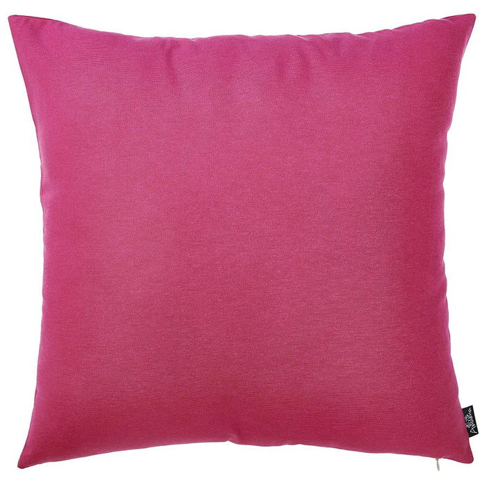 "Easy Care Solid Fushia Decorative Throw Pillow Cover Home Decor 20""x20"""