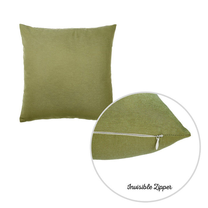 "Easy Care Solid Green Decorative Throw Pillow Cover Home Decor 20""x20"""
