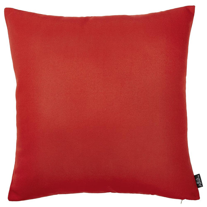 "Easy Care Red  Decorative Throw Pillow Cover Home Decor 20""x20"""