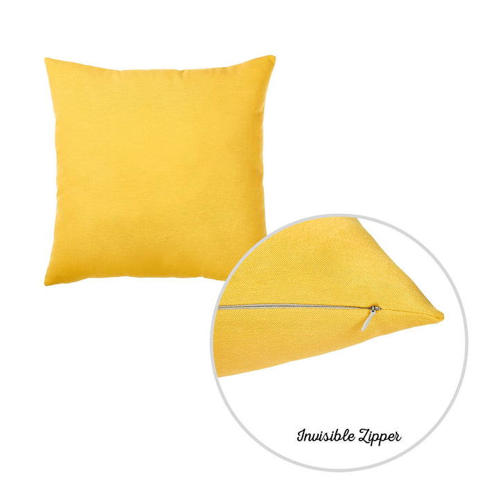 "Easy Care Yellow Decorative Throw Pillow Cover Home Decor 20""x20"" SET OF 2 PCS"