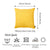 "Easy Care Yellow  Decorative Throw Pillow Cover Home Decor 20""x20"""