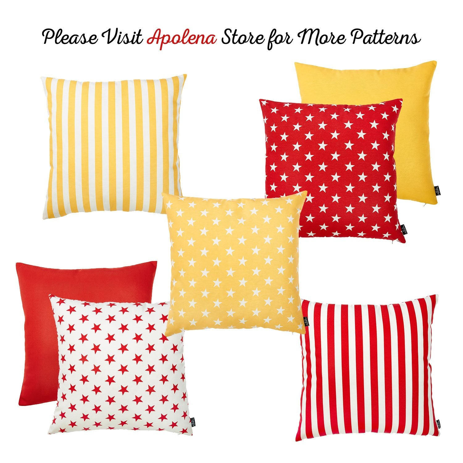 Easy Care Yellow Stars Decorative Throw Pillow Cover Home Decor