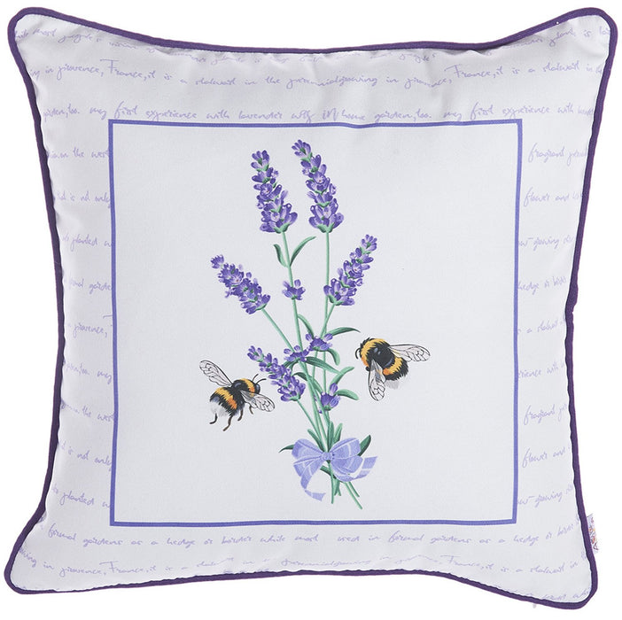 Spring Square  Bees  Printed Decorative Throw Pillow Cover Home Decor Pillowcase 18''x 18""