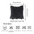 "Black Square Furry Decorative Throw Pillow Cover Home Decor  18""x18"""