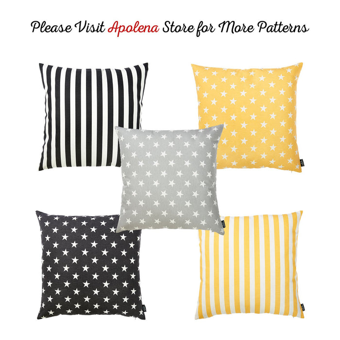 Easy Care Black White Stars Decorative Throw Pillow Cover Home Decor