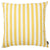 "Easy Care Yellow Stripes Decorative Throw Pillow Cover Home Decor 20""x20"""