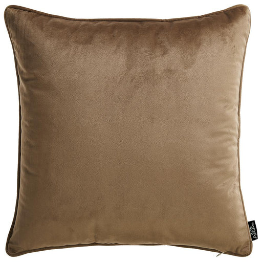 Velvet Tortilla Brown Decorative Throw Pillow Cover Home Decor 18''x 18''