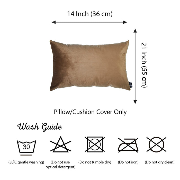 Velvet Tortilla Brown Decorative Throw Pillow Cover