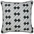 Tropical BW Links Squares Printed Decorative Throw Pillow Cover Home Decor Pillowcase 18''x 18''