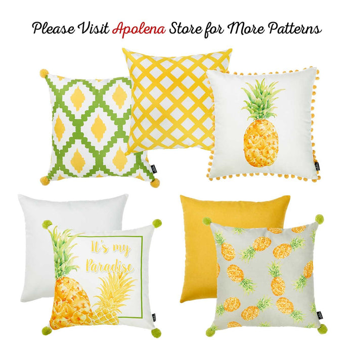 Tropical Cross Squares Printed Decorative Throw Pillow Cover Home Decor Pillowcase 18''x 18''