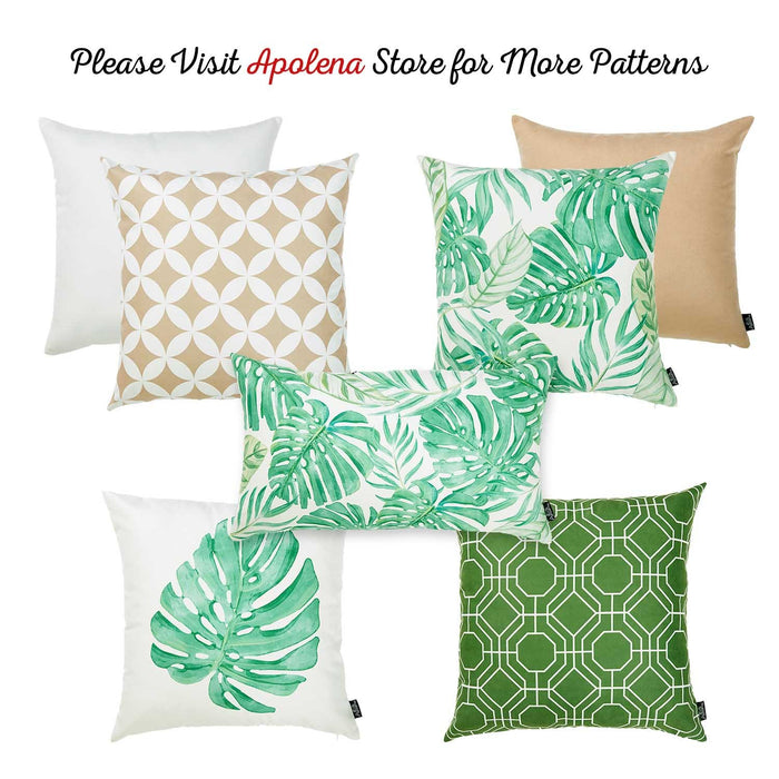 Tropical Deco  Printed Decorative Throw Pillow Cover Home Decor Pillowcase 18''x 18''