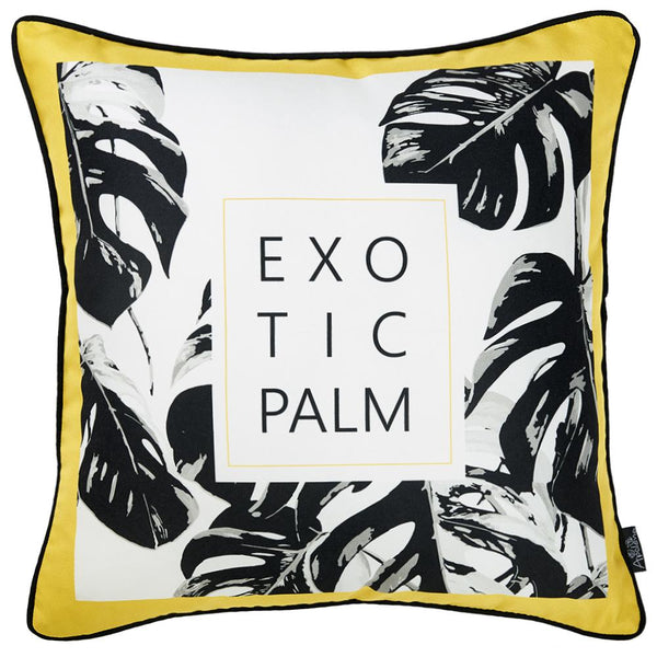 Tropical Exotic Palm Squares Printed Decorative Throw Pillow Cover Home Decor Pillowcase 18''x 18''