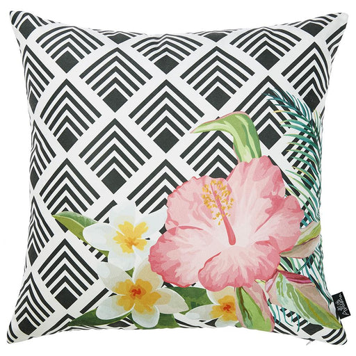 Tropical Flower Garden Printed Decorative Throw Pillow Cover Home Decor Pillowcase 18''x 18''