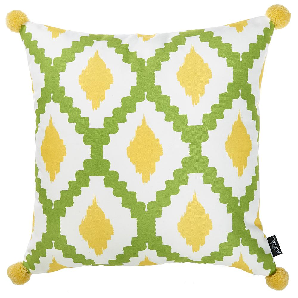 Throw Pillow Covers.Tropical Lime Lines Printed Decorative Throw Pillow Cover Home Decor 18 X 18