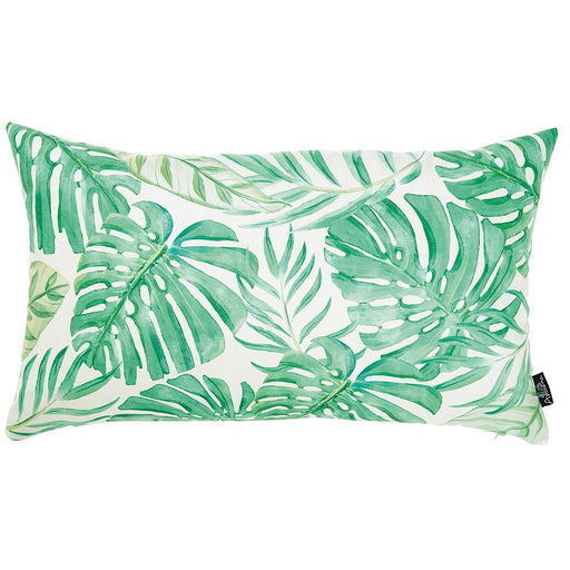 Tropical Monstera Lumbar Printed Decorative Throw Pillow Cover Home Decor 12''x 20''