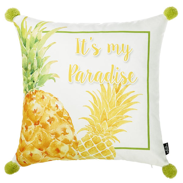 Tropical Paradise Printed Decorative Throw Pillow Cover Home Decor Fascinating Tropical Throw Pillow Covers
