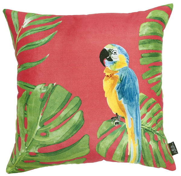 Tropical Parrot Greek Printed Decorative Throw Pillow Cover Home Decor Pillowcase 18''x 18''