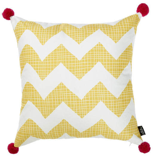 Tropical Yellow Chevron Printed Decorative Throw Pillow Cover Home Decor 18''x 18''