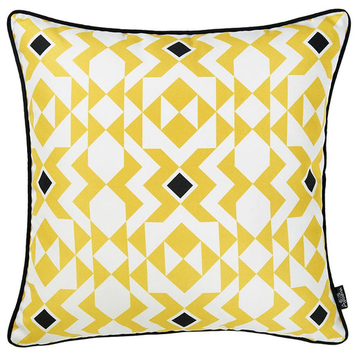 Tropical Yellow Manze Squares Printed Decorative Throw Pillow Cover Home Decor Pillowcase 18''x 18''