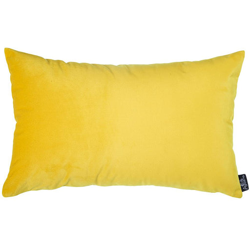 Velvet Yellow Decorative Throw Pillow Cover Home Decor 14''x 21''