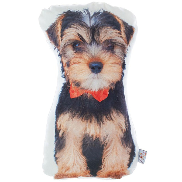 Animal Shaped Pillow, Filled Pillow with Yorkie Dog Shape