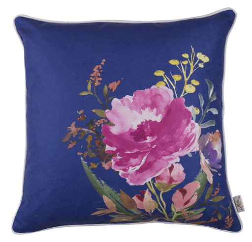 Flower Square Blue Style  Printed Decorative Throw Pillow Cover Home Decor 18''x 18""