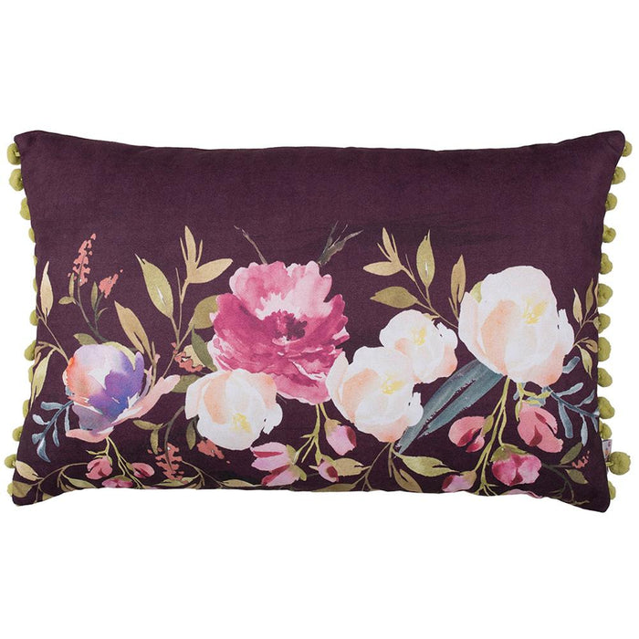 Flowers Garden Rectangle Garden  Printed Decorative Throw Pillow Cover 12''x 20''