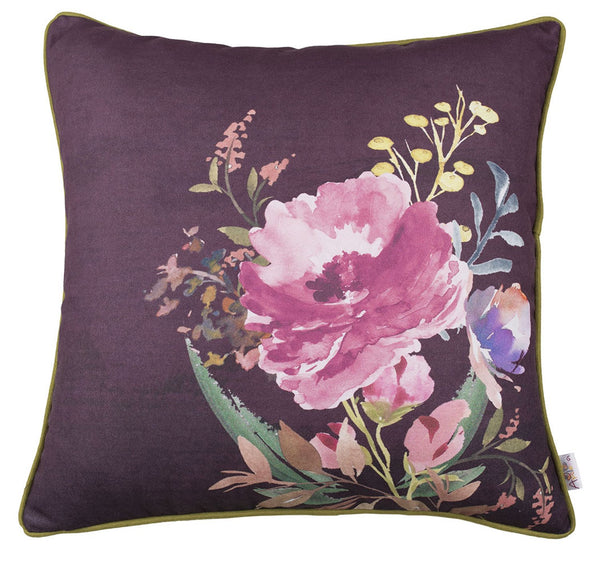 Flower Square Style  Printed Decorative Throw Pillow Cover Home Decor 18''x 18""