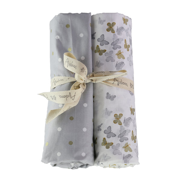 Sparkle Fitted Crib Sheet Set (Set of 2) Gray
