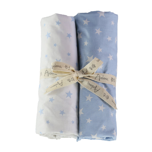 Fitted Crib Sheet Set (Set of 2) Blue