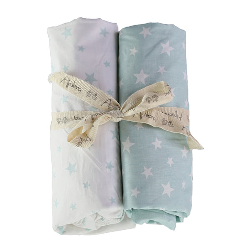 Fitted Crib Sheet Set (Set of 2) Mint Green