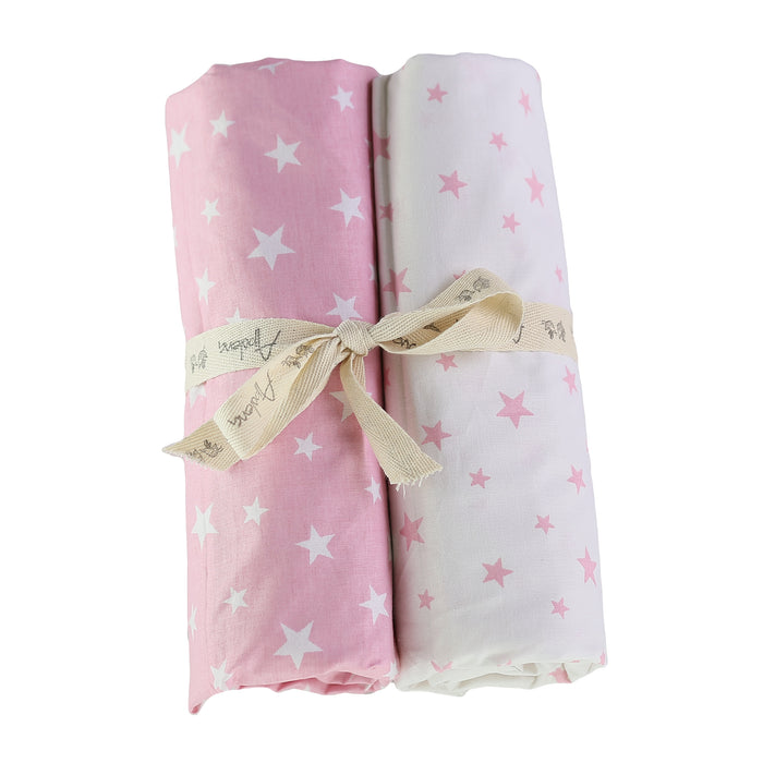 Fitted Crib Sheet Set (Set of 2) Pink