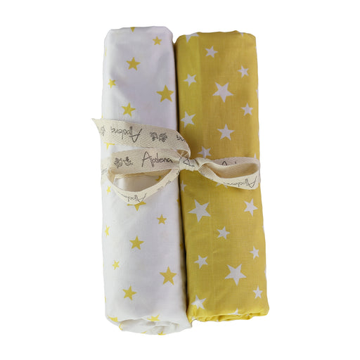 Fitted Crib Sheet Set (Set of 2) Yellow