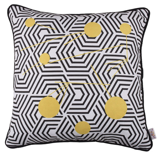 Scandi Square Geo Printed Decorative Throw Pillow Cover Home Decor 18''x18''