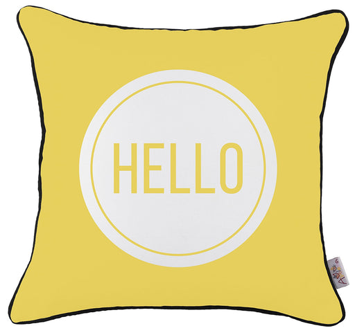 Scandi Square Hello Printed Decorative Throw Pillow Cover Home Decor 18''x18''