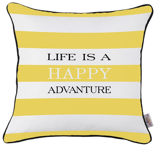 Scandi Square Life Printed Decorative Throw Pillow Cover Home Decor  18''x18''