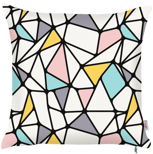 Scandi Square Mirror Design Printed Decorative Throw Pillow Cover Home Decor Pillowcase 18''x18''